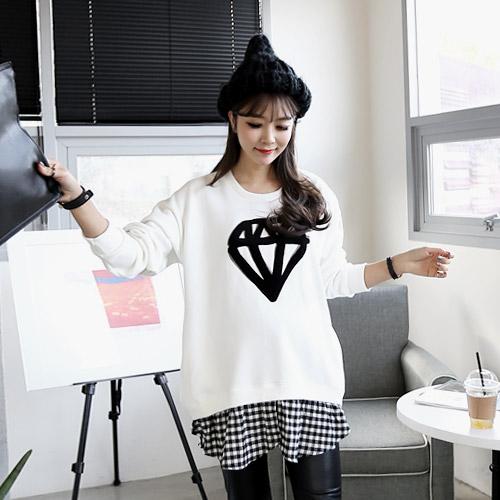 鑽石刺繡 T-shirt,,,305582,鑽石刺繡 T-shirt,